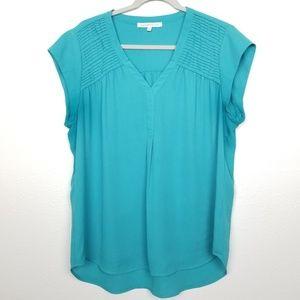 Daniel Rainn | turquoise | pleated | blouse